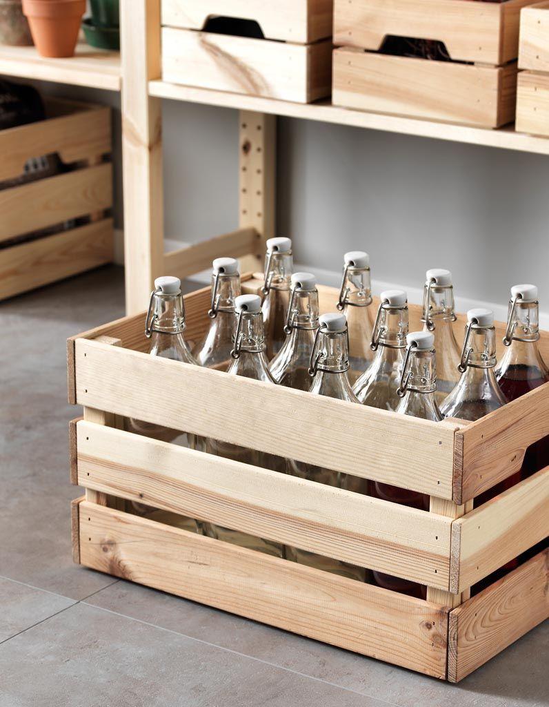 Rangement bouteilles : 12 solutions pour ranger ses bouteilles - Elle Décoration   Detournement ...
