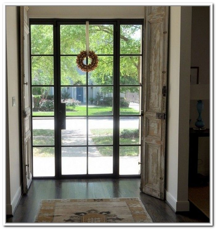 Metal glass doors exterior front doors and entryways 236 for Glass door in front of front door