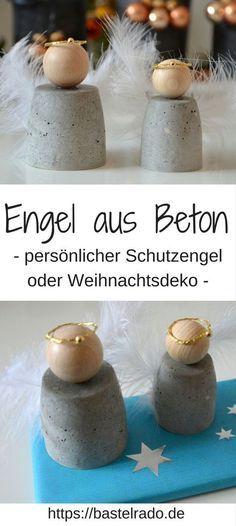 DIY-Engel aus Beton - als Schutzengel oder Weihnachtsdeko #weihnachtsgeschenkebasteln