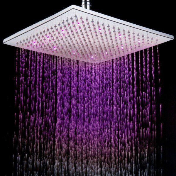 Square Led Shower Head Sprinkler With Images Led Shower Head
