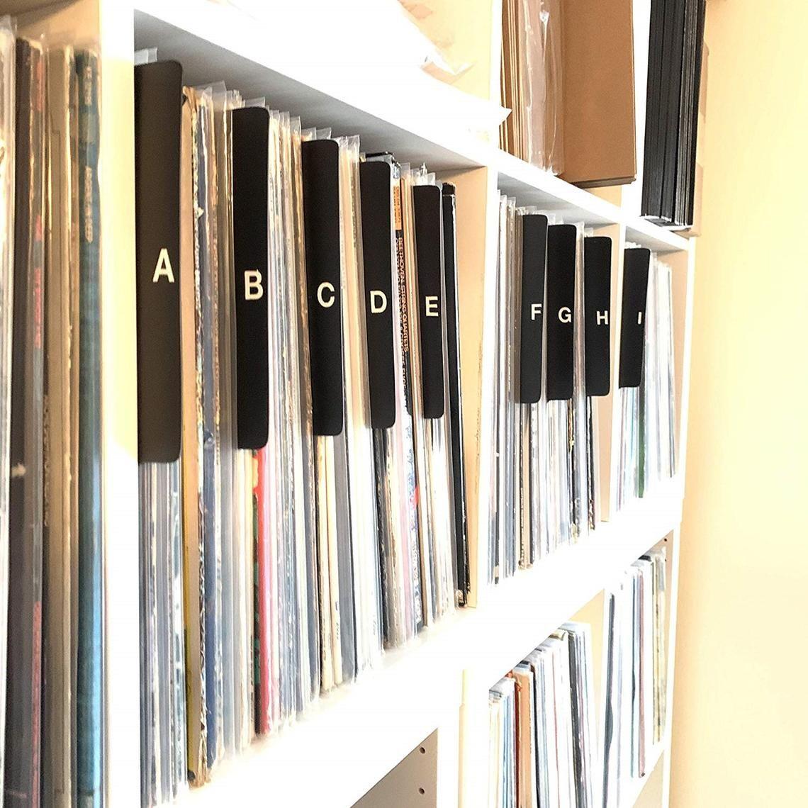 A Z Black Alphabetical Record Dividers Cards 12 Inch 33rpm Etsy In 2020 Record Dividers Vinyl Record Storage Record Album Storage