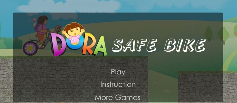 Dora Safe Bike game online