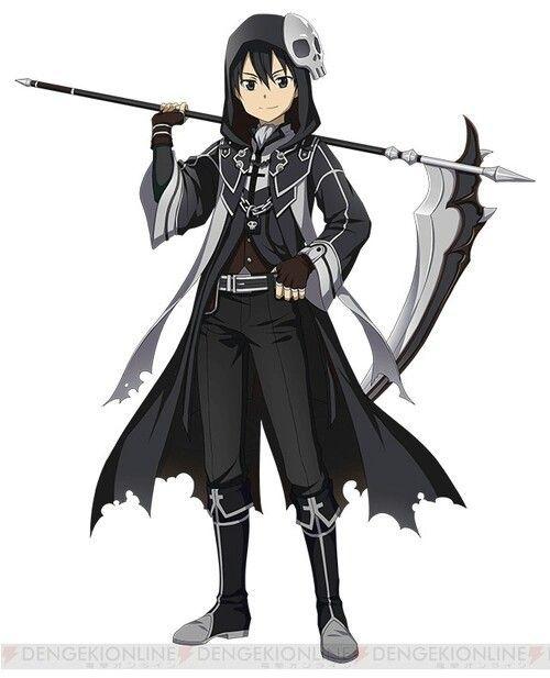 Sword Art Online Halloween Grim Reaper Gothic Kirito Sword Art Sword Art Online Kirito Sword Art Online Wallpaper