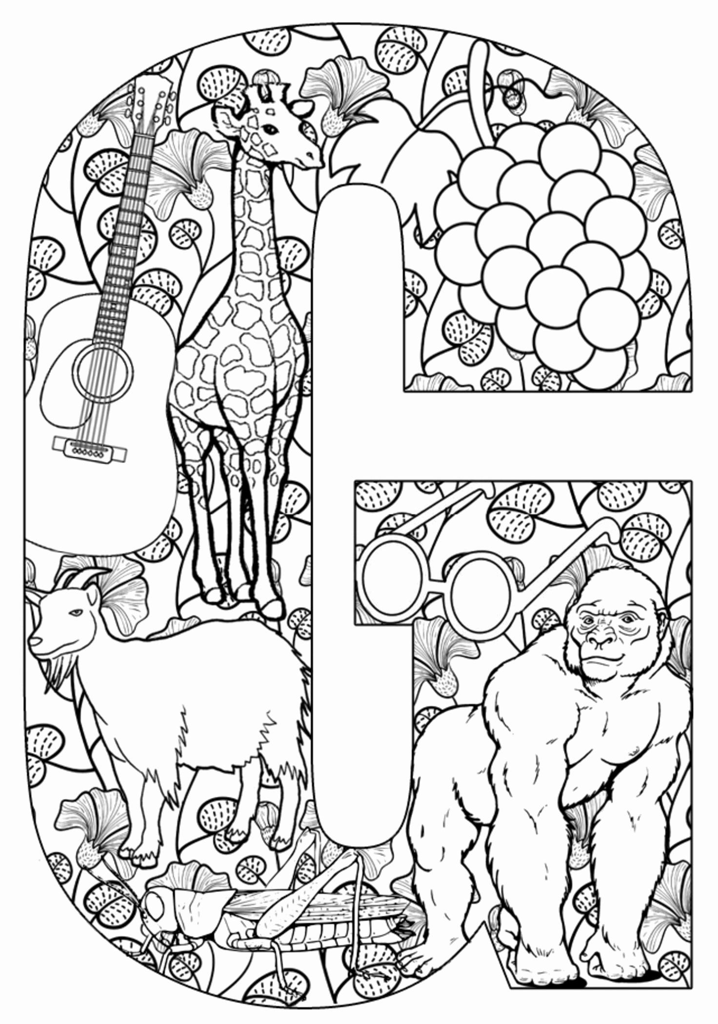 Coloring Pages Alphabet Printable Awesome Coloring