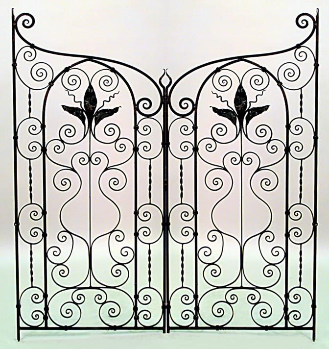 American Victorian architectural element gate iron victorian