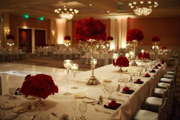 Red And Silver Wedding Inspiration
