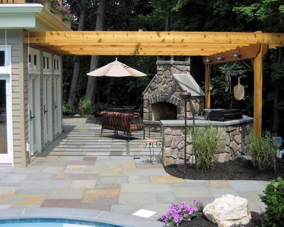 Beau Pergola Over Grill Pergola And Patio Cover Harmony Design Group Westfield,  NJ