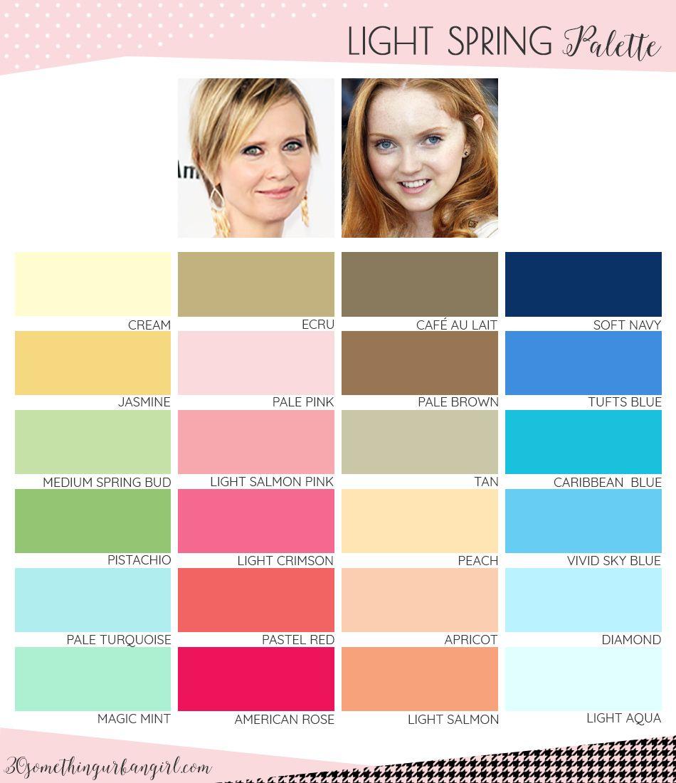 Best colors for Light Spring seasonal color women; Light Spring