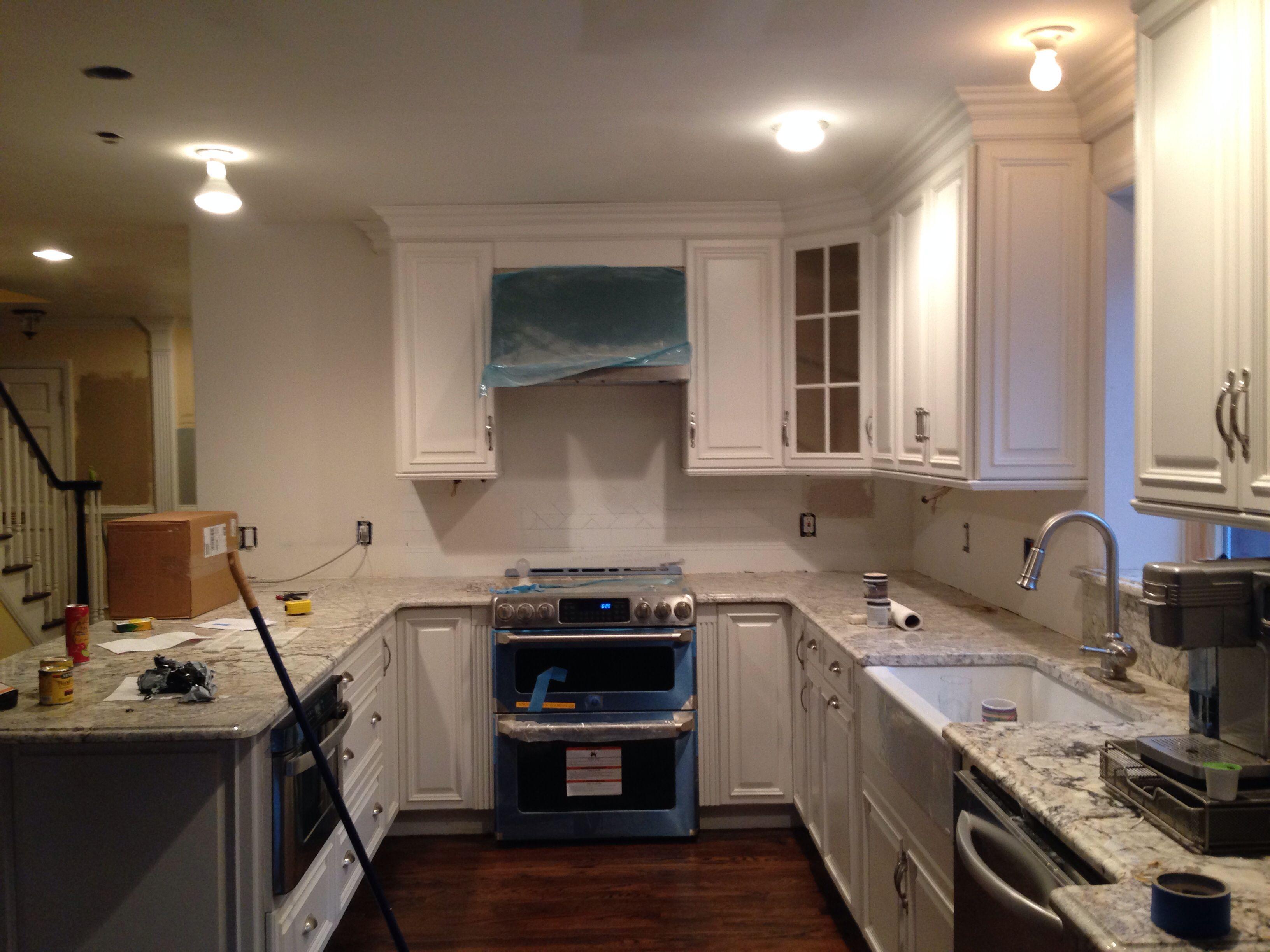 existing kitchen need backsplash change hardware  kitchen