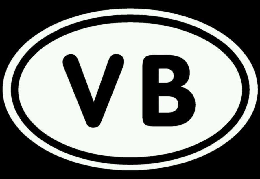 Virginia beach sticker vb oval ocean sand girl vinyl decal atv surfboard