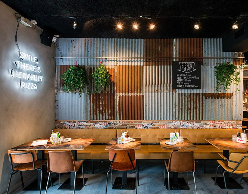 OTOMAT /// GENT on Behance Rustic restaurant interior