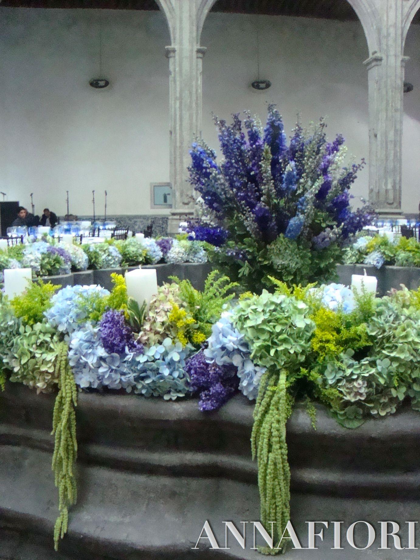 decoracin de fuente con flores