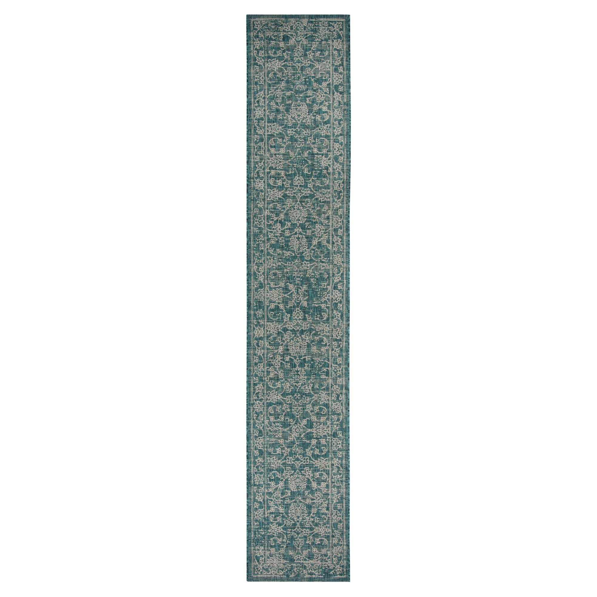 Lily Indoor Outdoor Rug Turquoise 2 7 X 5 Safavieh Blue