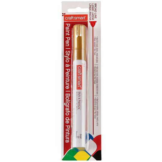 Broad Line Paint Pen by Craft Smart in White Paint pens and Products