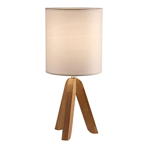 Light Accents Tripod Table Lamp With Natural Wooden Tripod Base