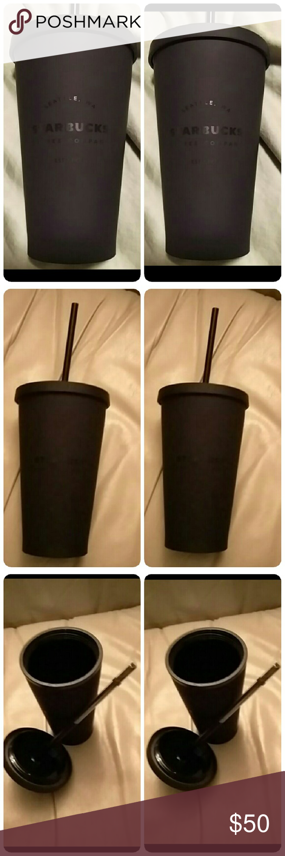 2 x Starbucks matte black 16 oz cold cup 2 x Starbucks matte black 16 ounce cold cup  New in package Are you in search of this? ISO? No trades or returns Starbucks Other