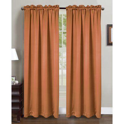 Glory Home Design Beth Solid Semi Sheer Rod Pocket Curtain