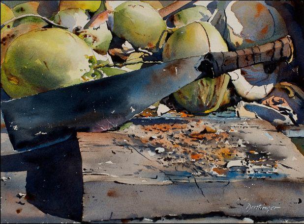 Coconut Splitter | The Artwork of Ric Dentinger |