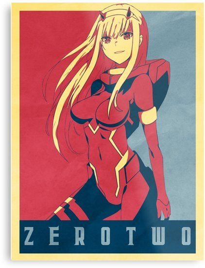 Zero Two Political Darling In The Frankk Metal Print