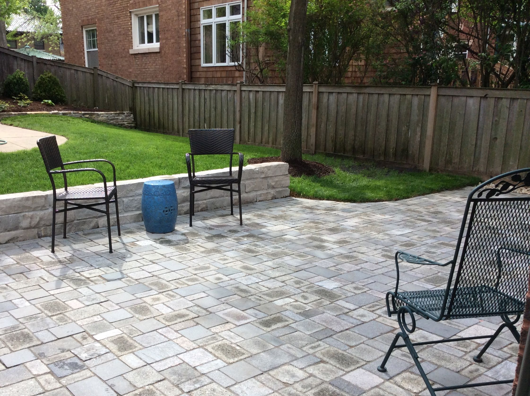 Patio Pavers Made With Recycled Granite Countertop | Earth Stone Midwest |  Design By Twig Landscape