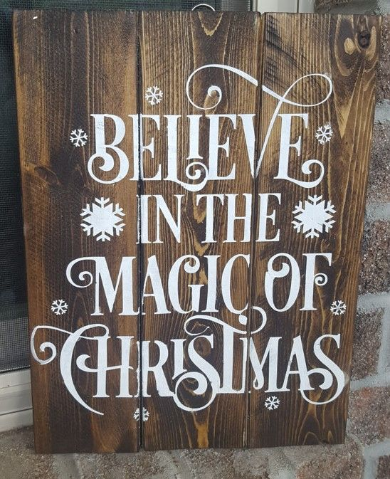 believe in the magic of christmas wooden sign believe christmas ad wood
