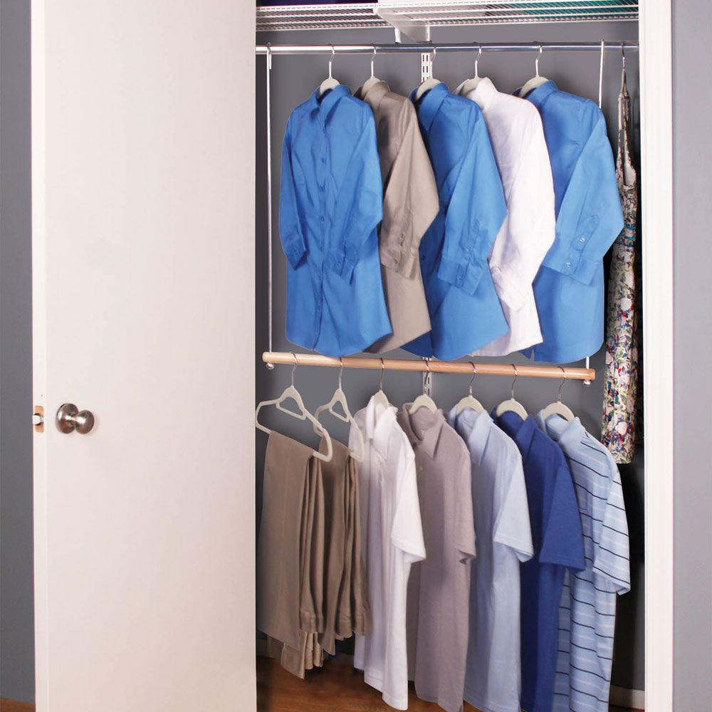 Add An Extra Tier Of Hanging Space To A Coat Closet With A Double Hang