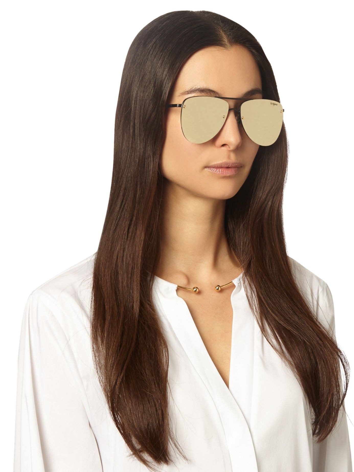 the prince aviator sunglasses le specs matchesfashion. Black Bedroom Furniture Sets. Home Design Ideas