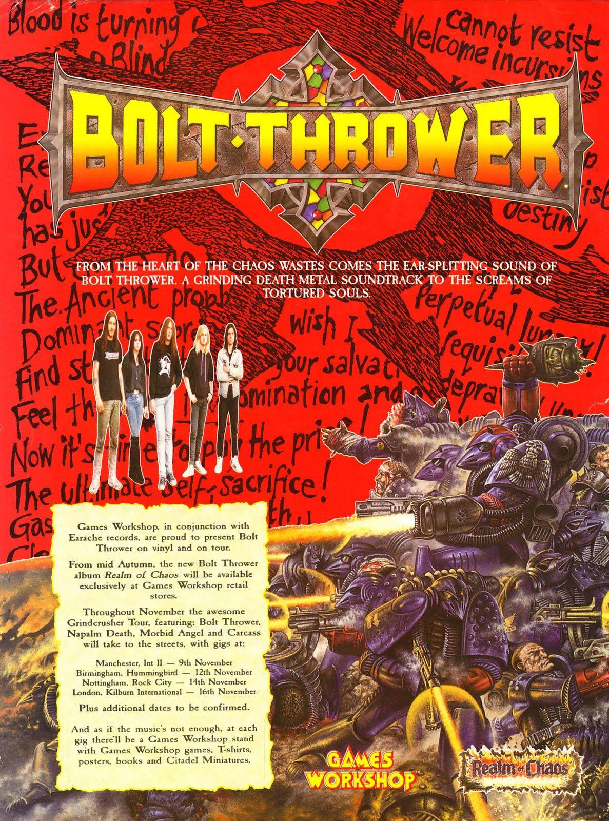 Bolt thrower realm of chaos death metal thrash metal