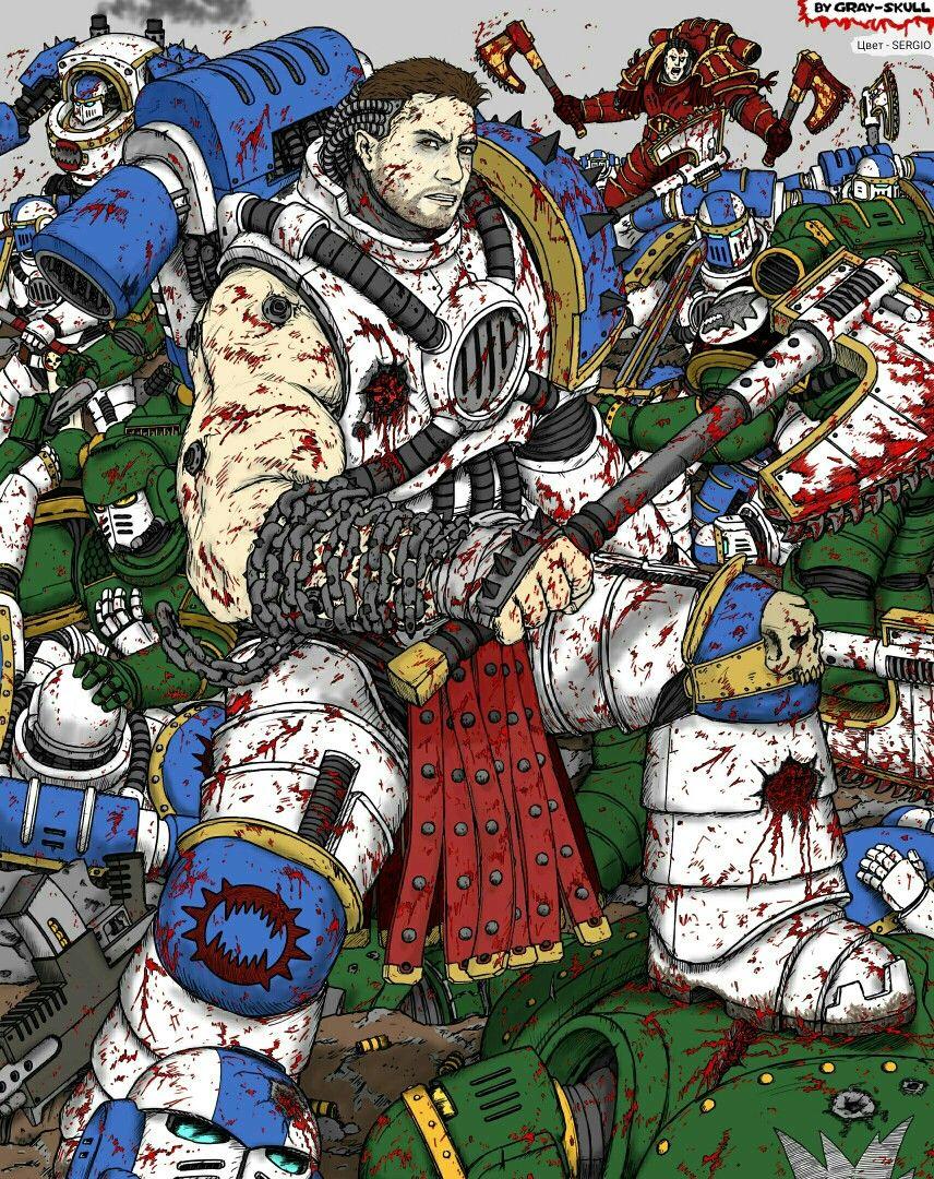 Warhammer 40000 Kharn The Betrayer Of The World Eaters Legion Art By Gray Skull Warhammer 40k Artwork Warhammer Art Fantasy Character Design