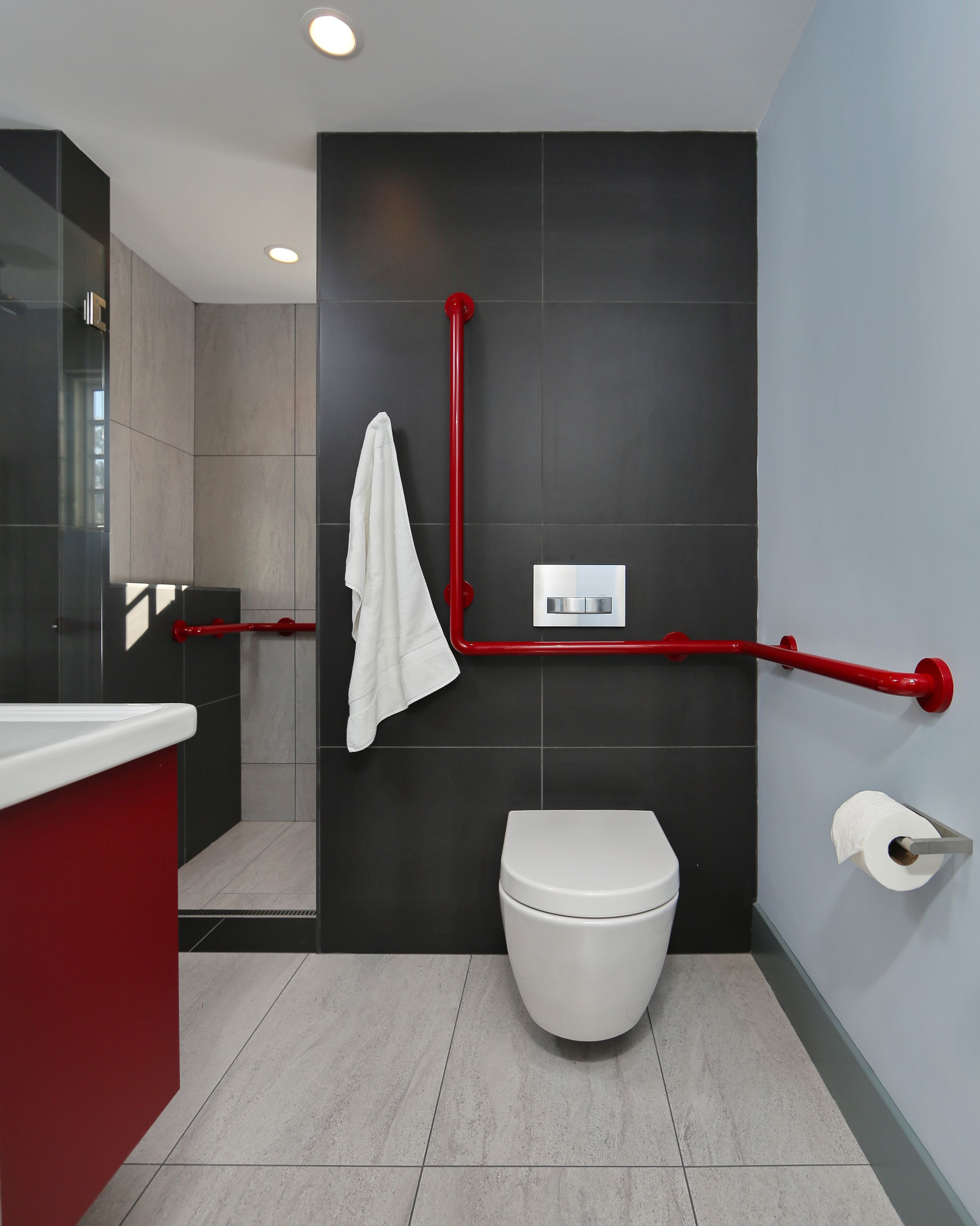 The project was to remodel a full bath and create a bedroom out of