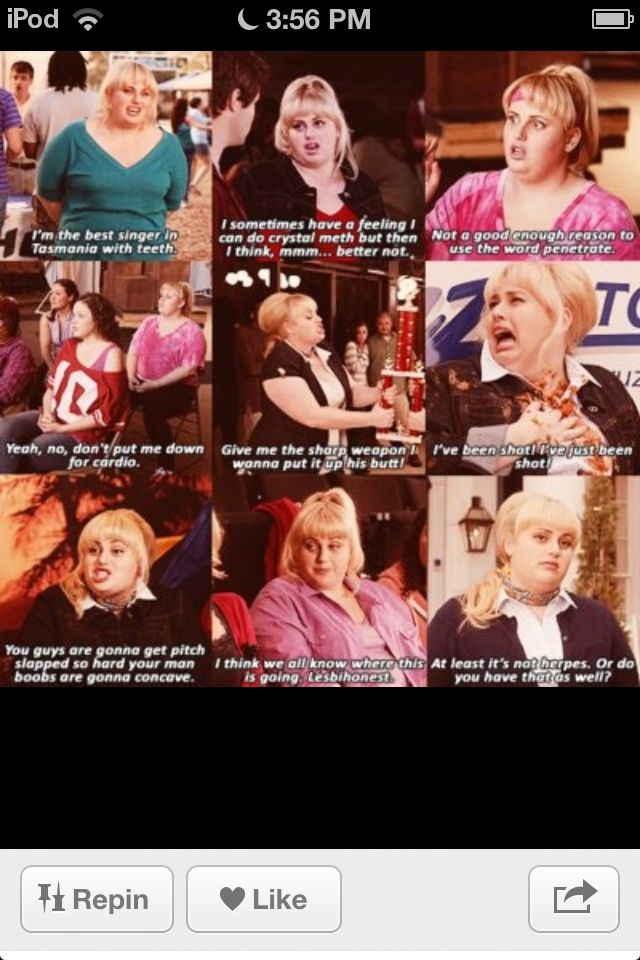 Fat Amy quotes oh my she is so funny MoviesTV Shows Impressive Funny Love Quotes From Movies