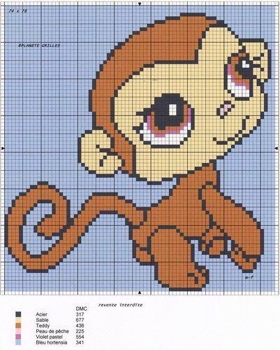 Monkey Animales Punto De Cruz Punto De Cruz Bordados En Punto Cruz