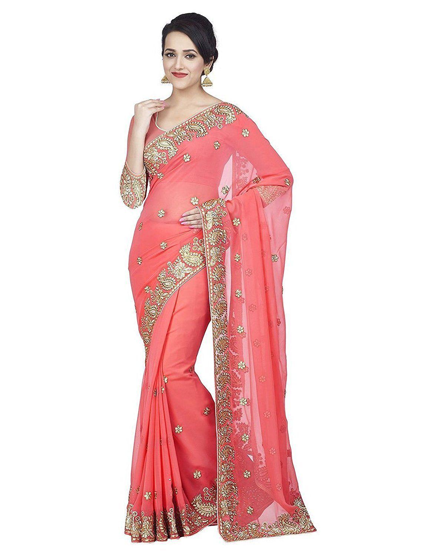 68% Discount , Sareeshop Georgette Saree | Latest Festival Wear ...