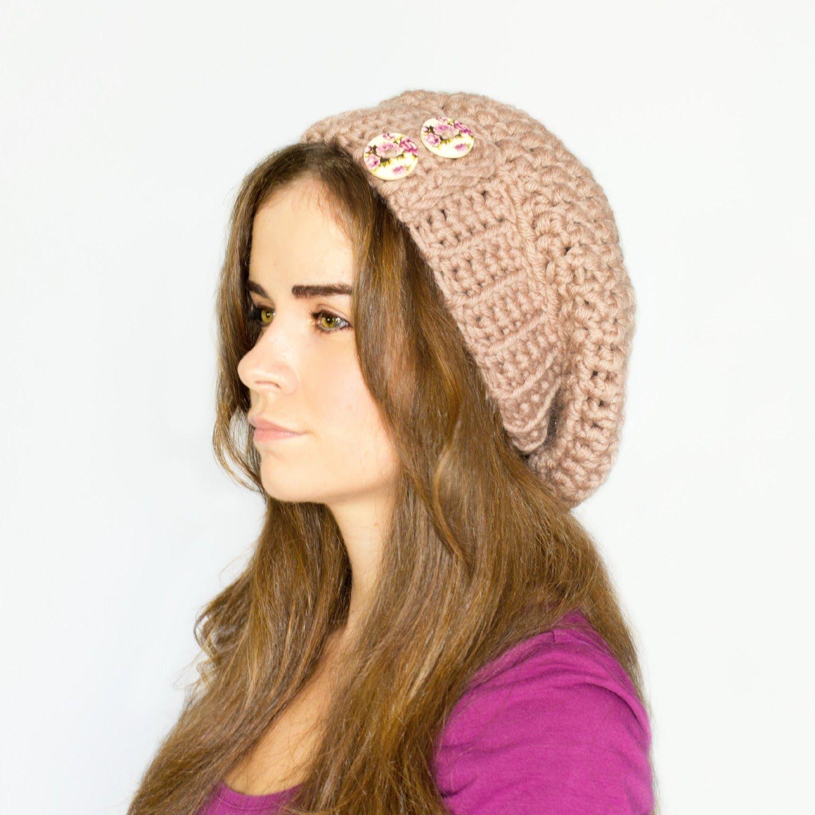 Chunky Slouchy Beanie Crochet Pattern   Gorros, Crochet patrones y ...