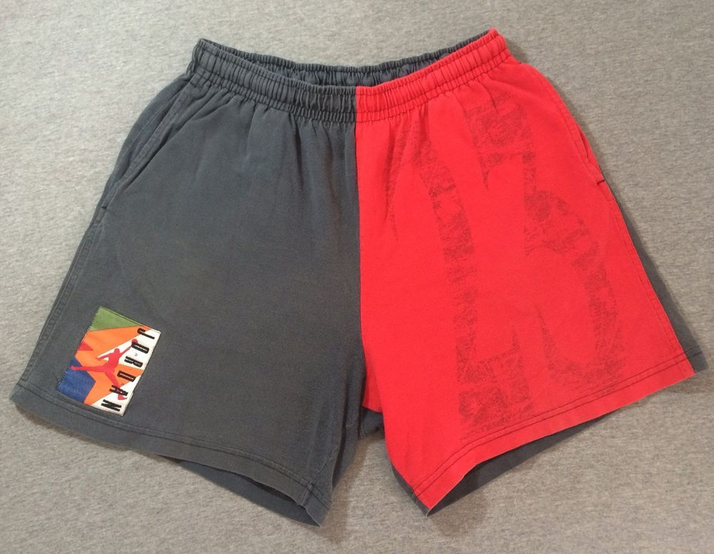 fbe971a1d69 NIKE Vintage 90's AIR JORDAN Shorts Jumpman Slam Dunk Cotton Basketball #23  Med #AirJordan #Shorts
