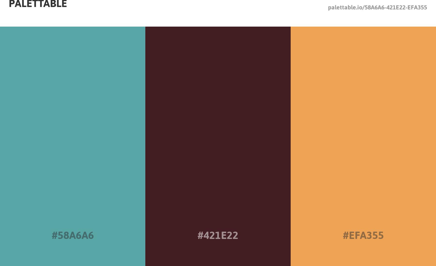 Colour Scheme Palette With 3 Colour Combination Aqua Brown And Tan Aqua Color Color Schemes Color