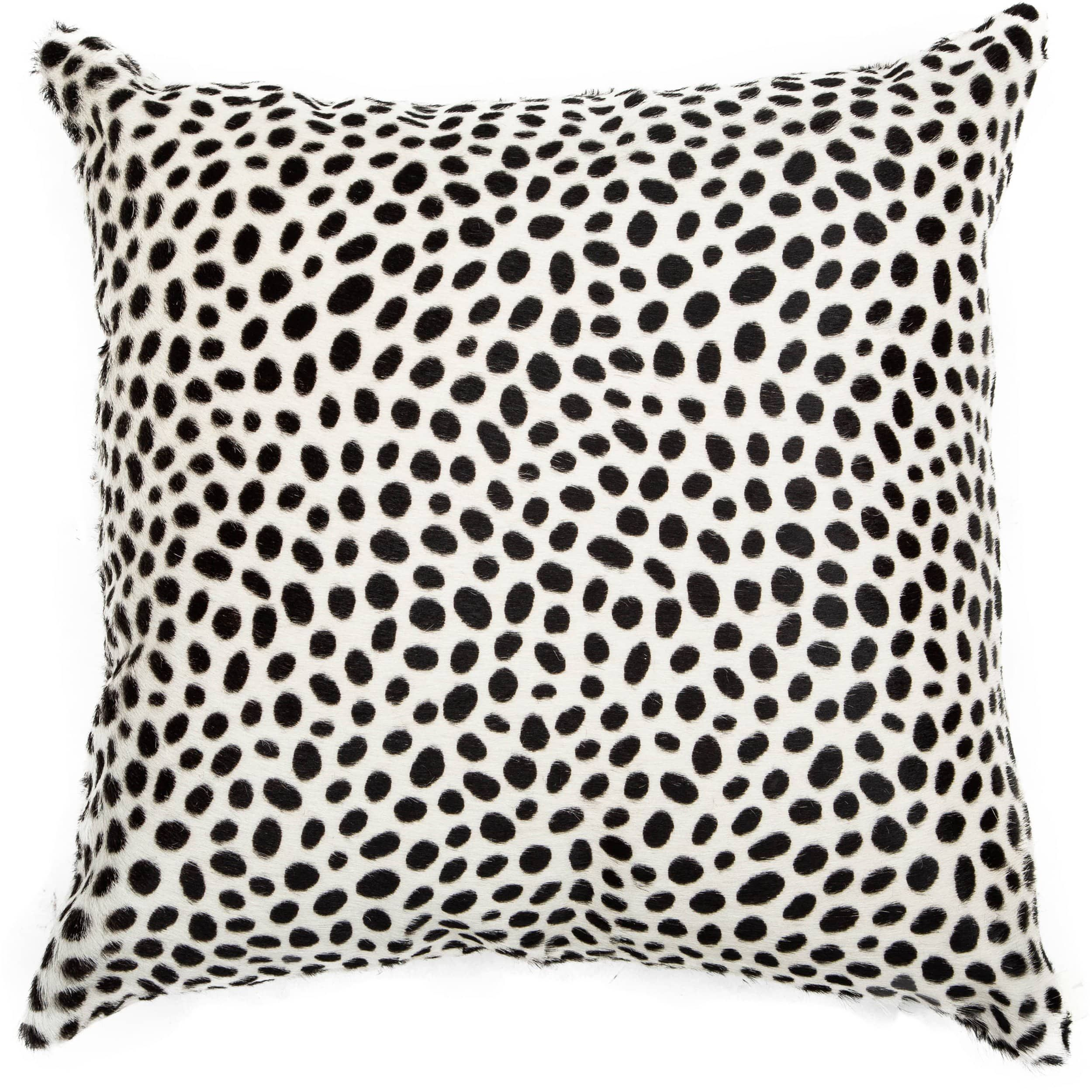 td {border: 1px solid #ccc;}br {mso-data-placement:same-cell;} The Cheetah on White Hide Pillow adds eyecatching style and texture to a setting.