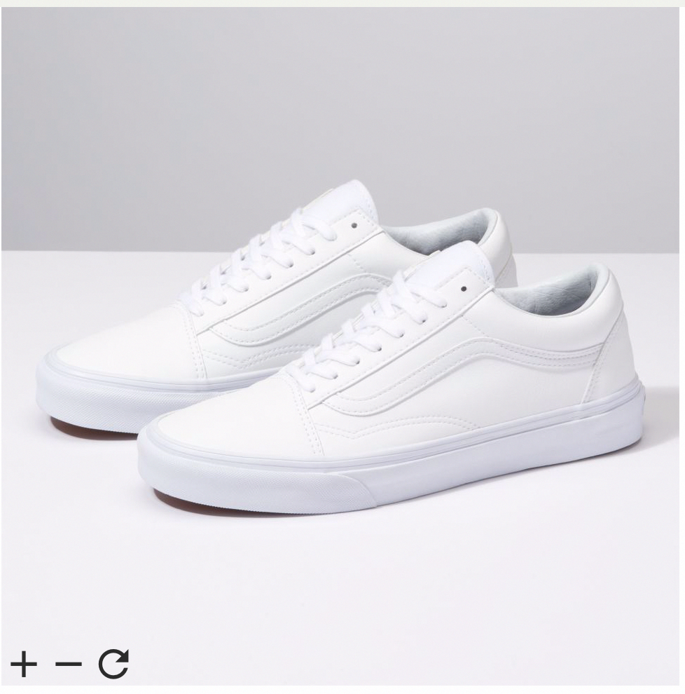 white vans size 3