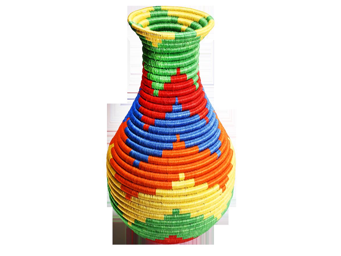 Jarron en fique cuello botella cat logo de productos - Artesania y decoracion ...