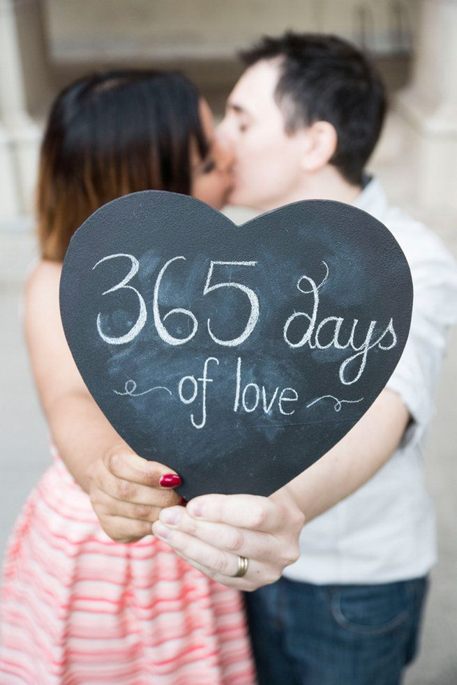 Cute First Wedding Anniversary Photo Ideas