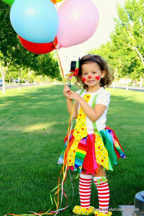 Rainbow Clown Tutu Costume including Fabric Scraps Tutu Shirt Leg Warmers and Mini Top Hat Made  sc 1 st  Pinterest & Rainbow Clown Tutu Costume including Fabric Scraps Tutu Shirt Leg ...