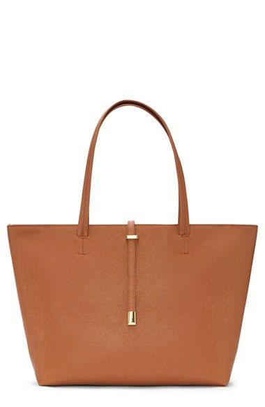 Vince Camuto 'Leila' Top Zip Leather Tote