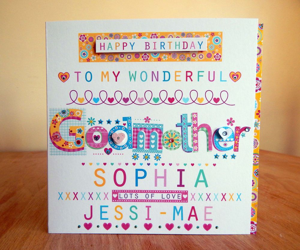 Details about godmother birthday card personalised special happy details about godmother birthday card personalised special happy birthday godmother card bookmarktalkfo Gallery