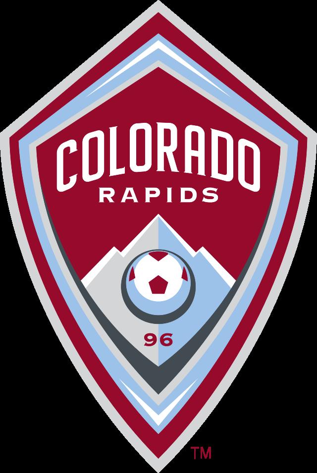 Colorado Rapids Of The Usa Crest Colorado Rapids Football Logo Sports Logo