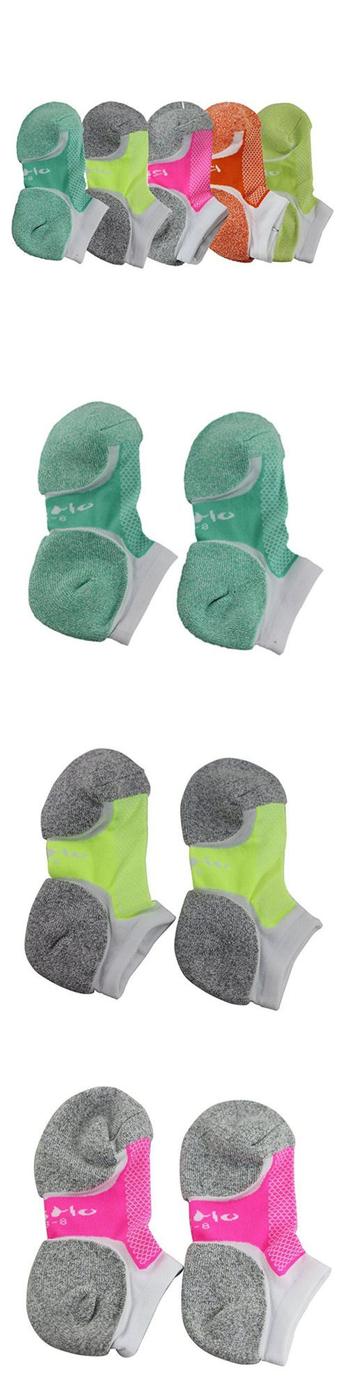 NWOT Women/'s Road Runner No Show Running Socks 6 Pair Size Medium White #238G