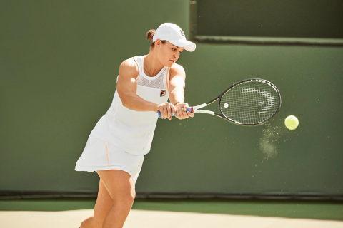 Ashleigh Barty Kiki Bertens Sofia Kenin Reveal Their Fila Wimbledon Whites Women S Tennis Blog Tennis Wimbledon Womens Tennis