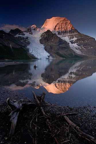 Mt Robson sunrise reflection in Berg Lake by .Anton, via Flickr