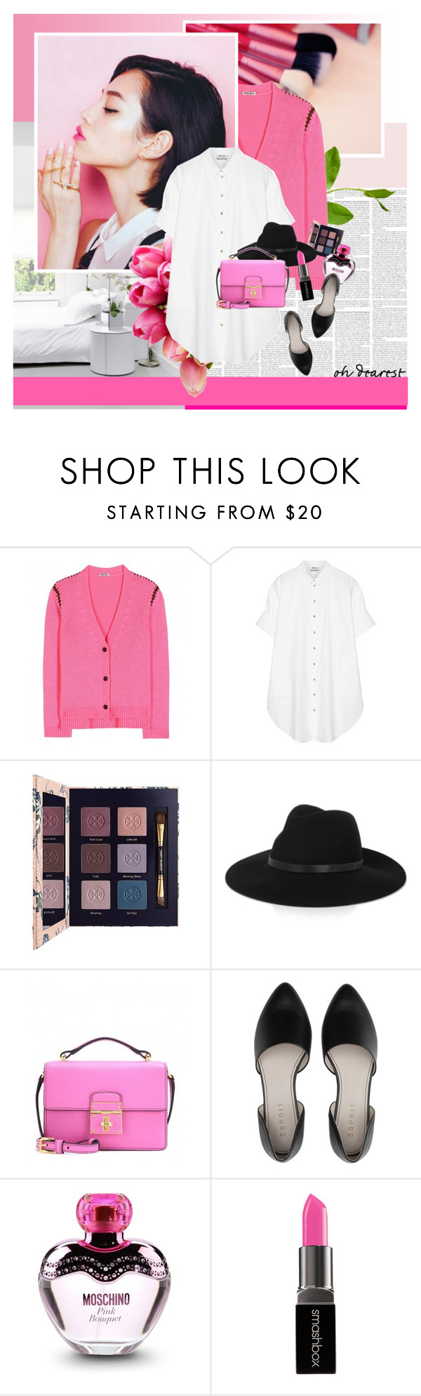 """Pink Lover"" by stephaniee90 ❤ liked on Polyvore featuring Miu Miu, Reception, Acne Studios, Tory Burch, By Malene Birger, Dolce&Gabbana, Moschino and Smashbox"