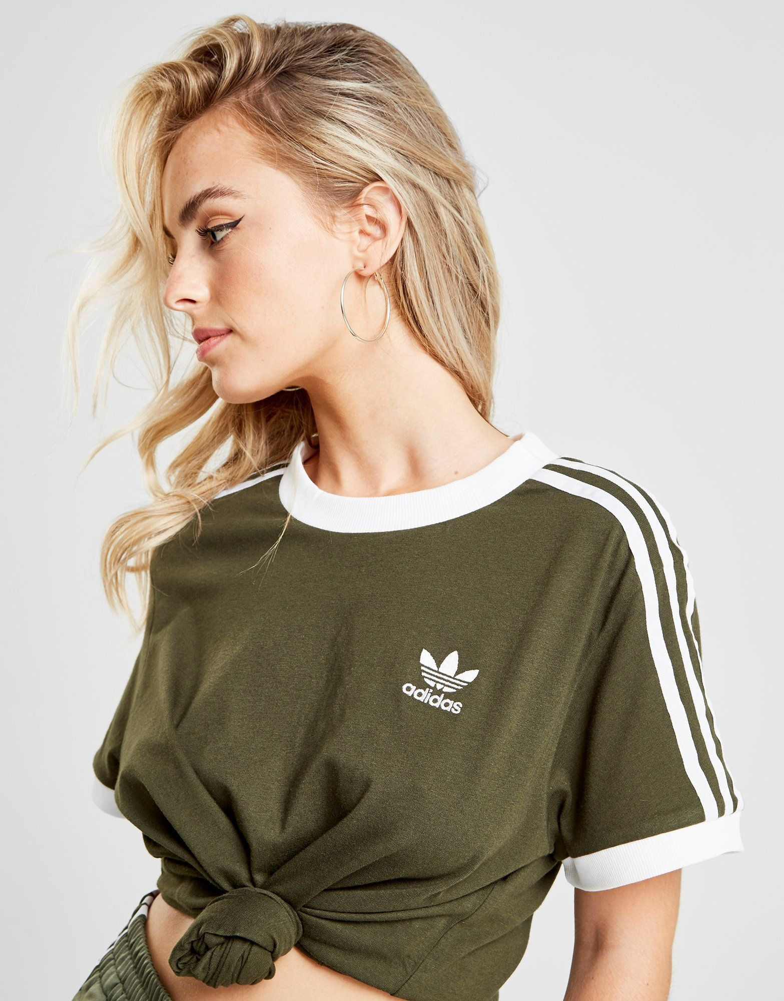 adidas Originals 3 Stripes California T Shirt Dames Shop