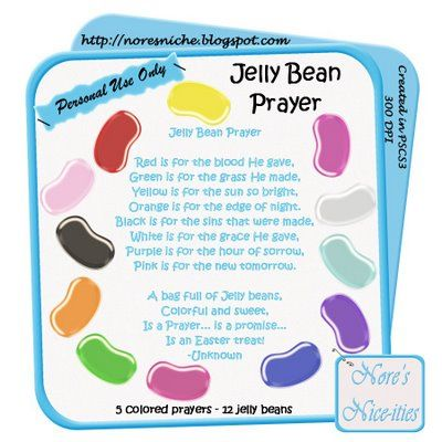 Poem With Cross And Jesus Easter Jelly Bean Cross Jelly In